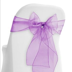 Other - Lavender Chair Ribbons 50 pct